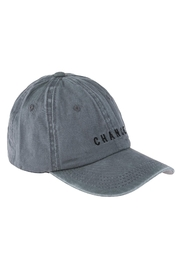 Riah Fashion Chance Embroidered Acid Wash Cap - Front full body