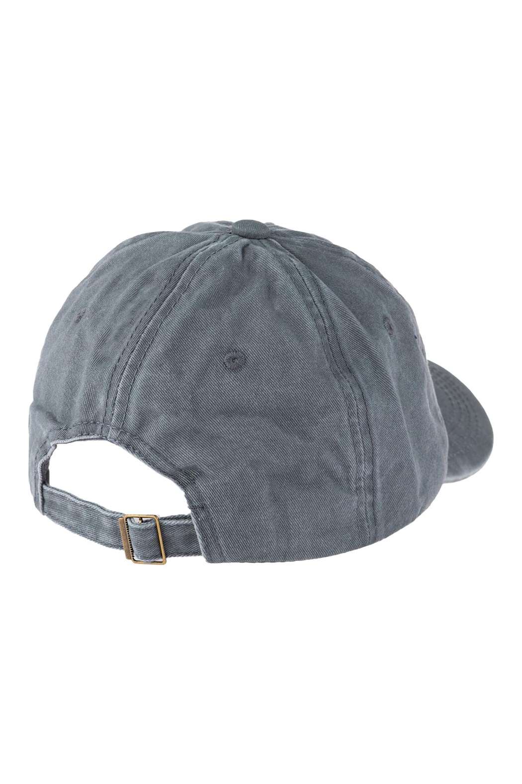 Riah Fashion Chance Embroidered Acid Wash Cap - Side Cropped Image