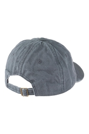 Riah Fashion Chance Embroidered Acid Wash Cap - Side cropped