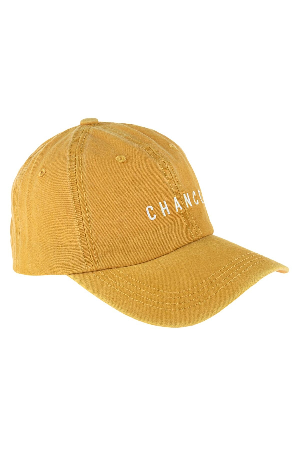 Riah Fashion Chance Embroidered Acid Wash Cap - Front Full Image