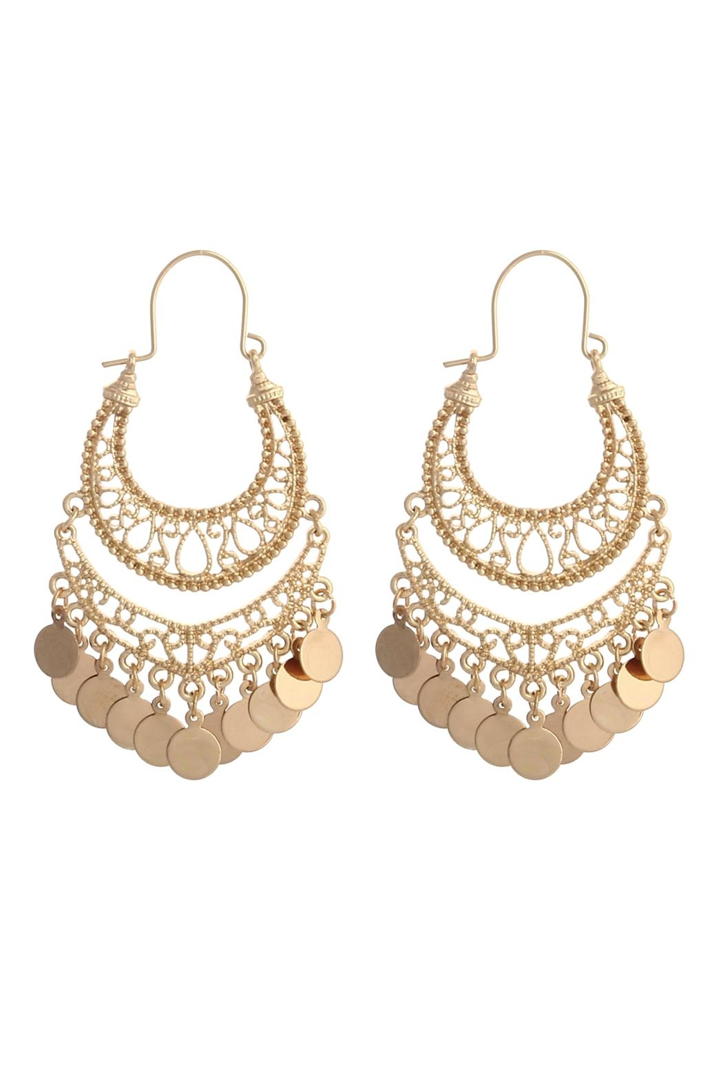 Riah Fashion Gypsy Dangling Earrings - Front Cropped Image