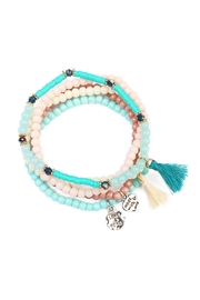 Riah Fashion Charm Beaded  Bracelet - Product Mini Image