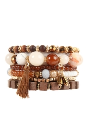 Riah Fashion Charm Stack Bracelet - Product Mini Image