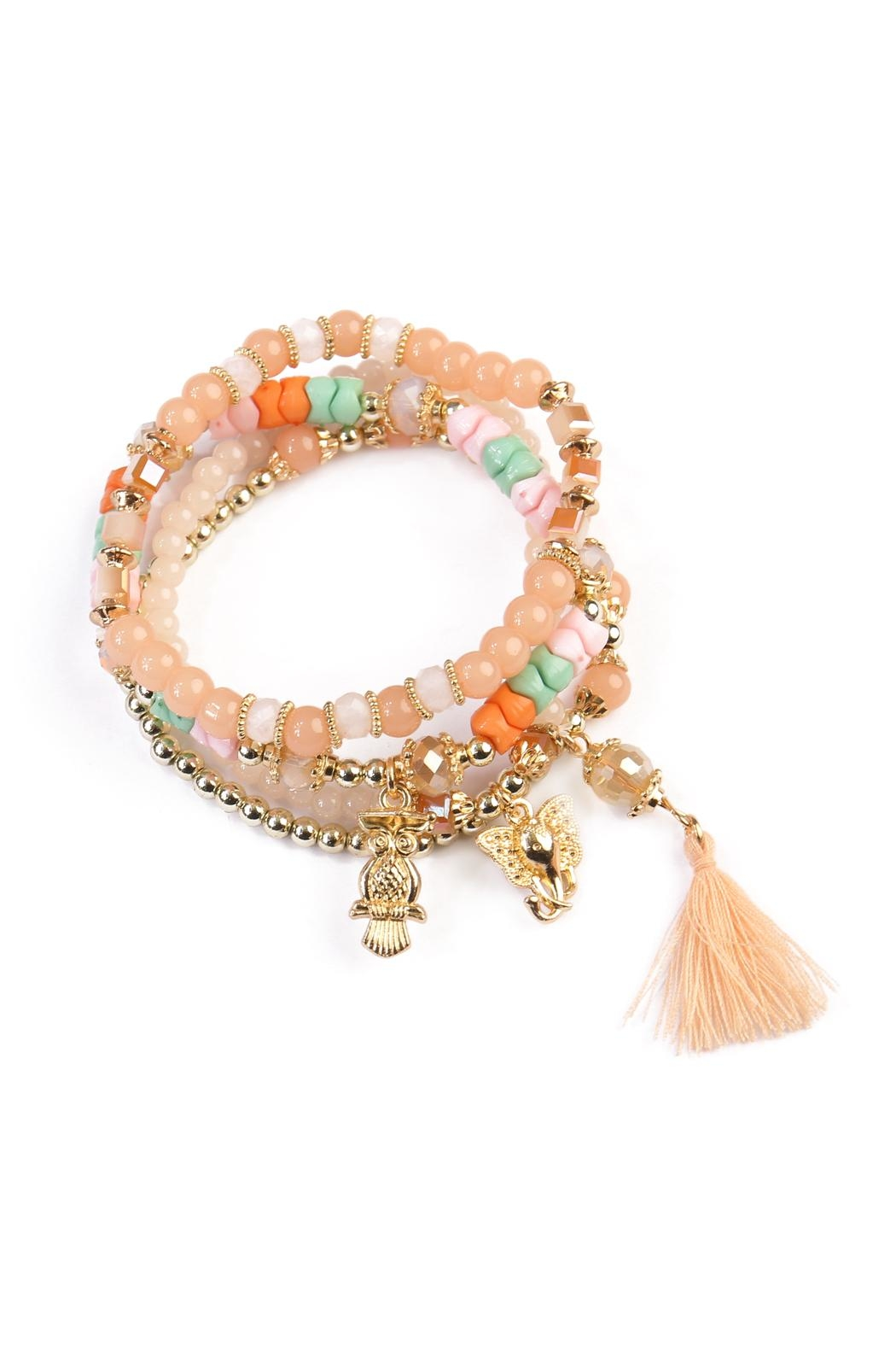 Riah Fashion Charm Stretch Bracelet - Front Cropped Image