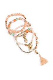 Riah Fashion Charm Stretch Bracelet - Front full body