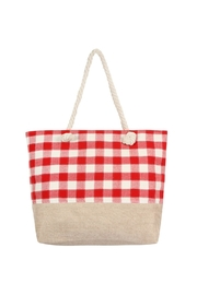 Riah Fashion Checkered Design Tote Bag - Product Mini Image