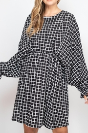 Riah Fashion Checkered-Dress - Front cropped