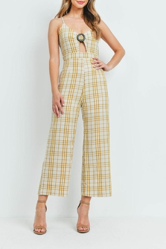 Riah Fashion Checkered-Jumpsuit - Product List Image
