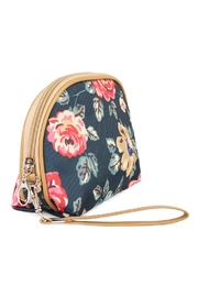Riah Fashion Cherry Blooms Cosmetic Bag - Front full body