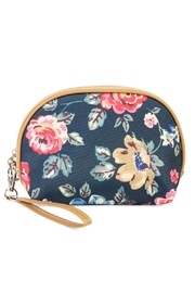 Riah Fashion Cherry Blooms Cosmetic Bag - Front cropped