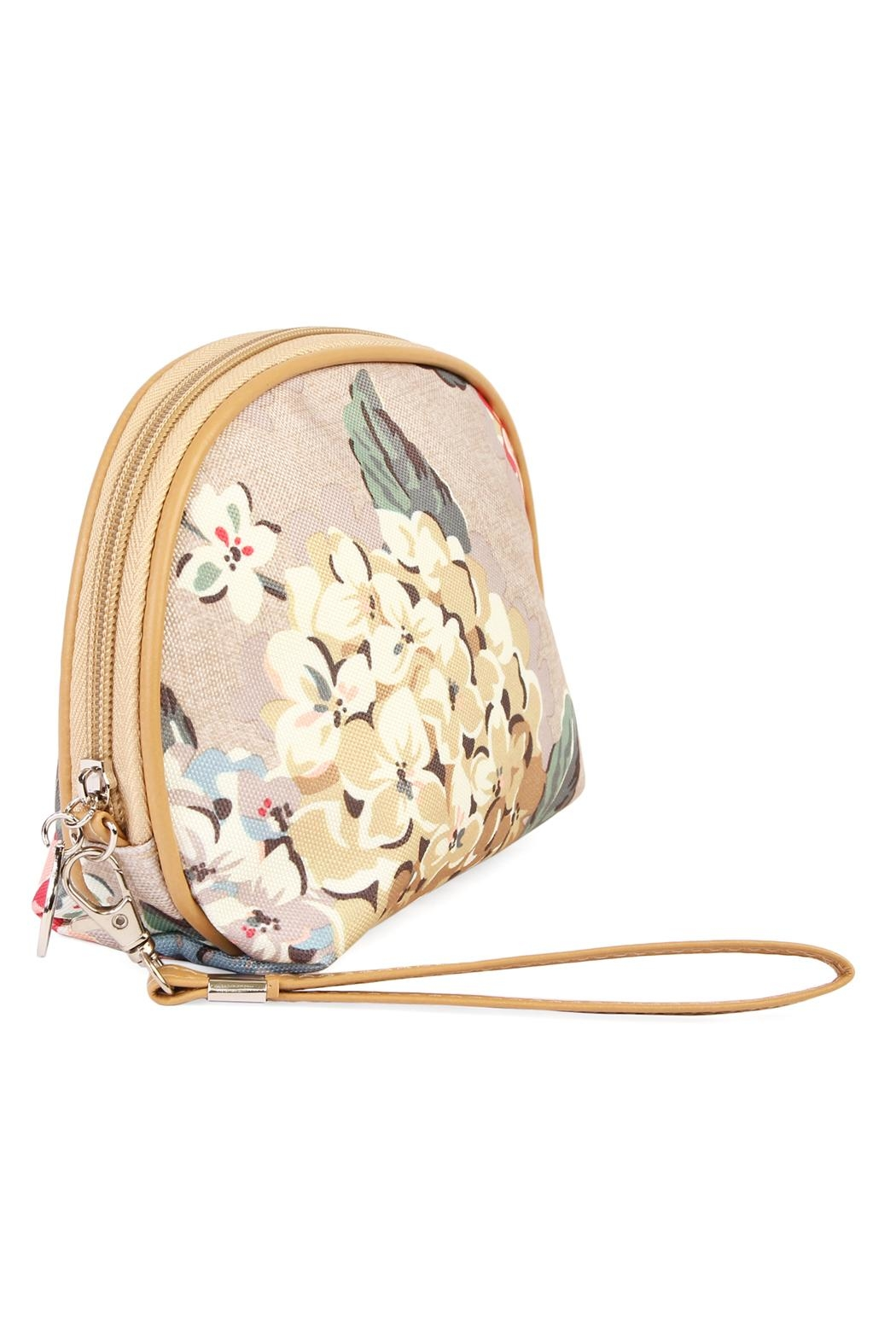 Riah Fashion Cherry Blooms Cosmetic Bag - Front Full Image