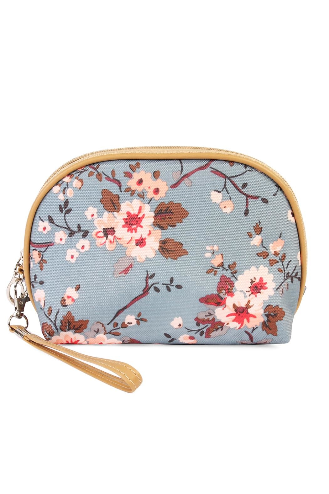 Riah Fashion Cherry Blooms Cosmetic Bag - Front Cropped Image