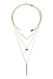 Riah Fashion Chevron Choker Necklace - Product Mini Image