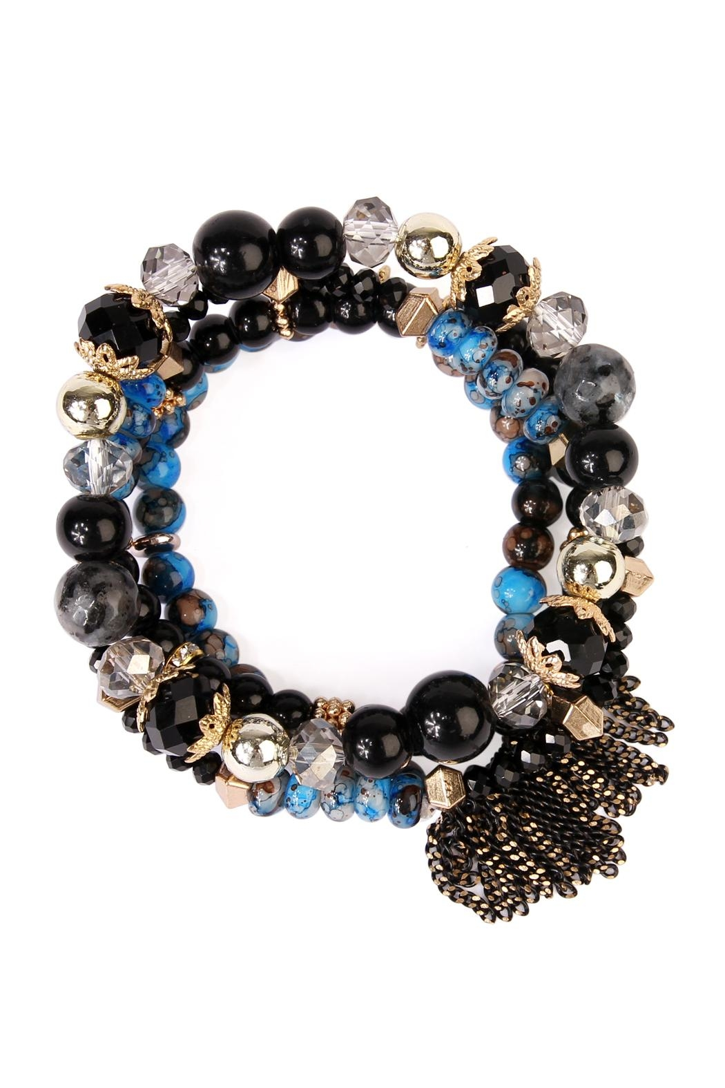 Riah Fashion Chic Beaded Bracelet Set - Main Image