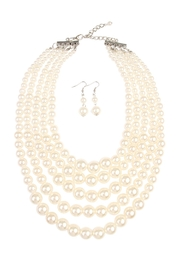 Riah Fashion Pearl Necklace & Earring Set - Product Mini Image
