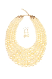 Riah Fashion Pearl Necklace & Earring Set - Front cropped