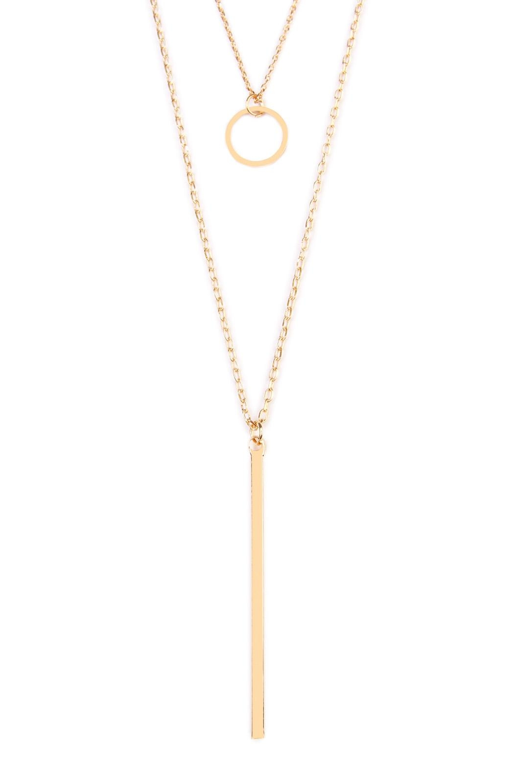 Riah Fashion Circle Delicate Necklace - Front Full Image