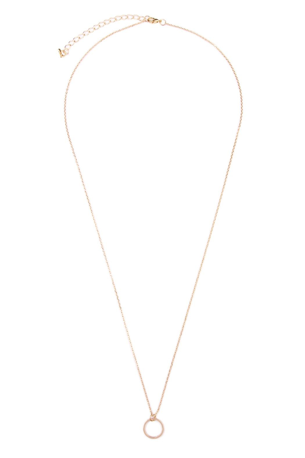 Riah Fashion Circle Delicate Necklace - Side Cropped Image
