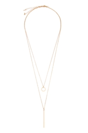 Riah Fashion Circle Delicate Necklace - Front cropped
