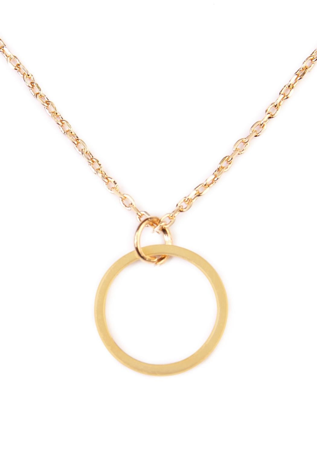 Riah Fashion Circle Delicate Necklace - Back Cropped Image