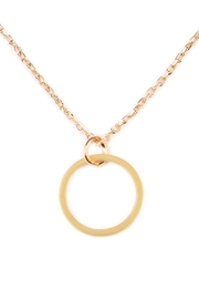 Riah Fashion Circle Delicate Necklace - Back cropped