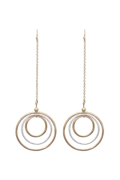 Shoptiques Product: Circle Drop Earrings