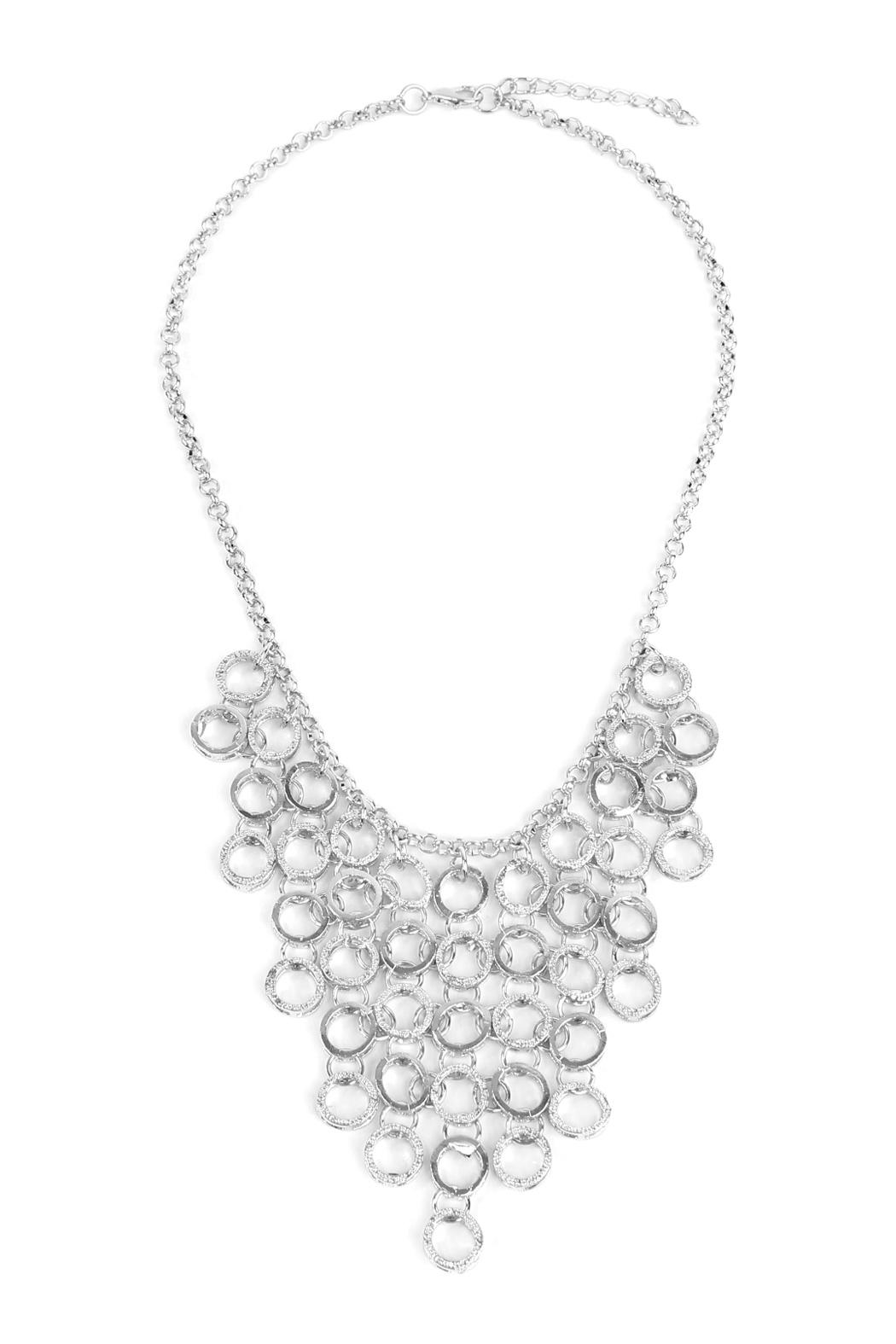 Riah Fashion Circle Link Necklace - Front Cropped Image
