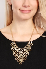 Riah Fashion Circle Link Necklace - Front full body