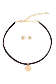 Riah Fashion Circle Pendant Choker Set - Product Mini Image