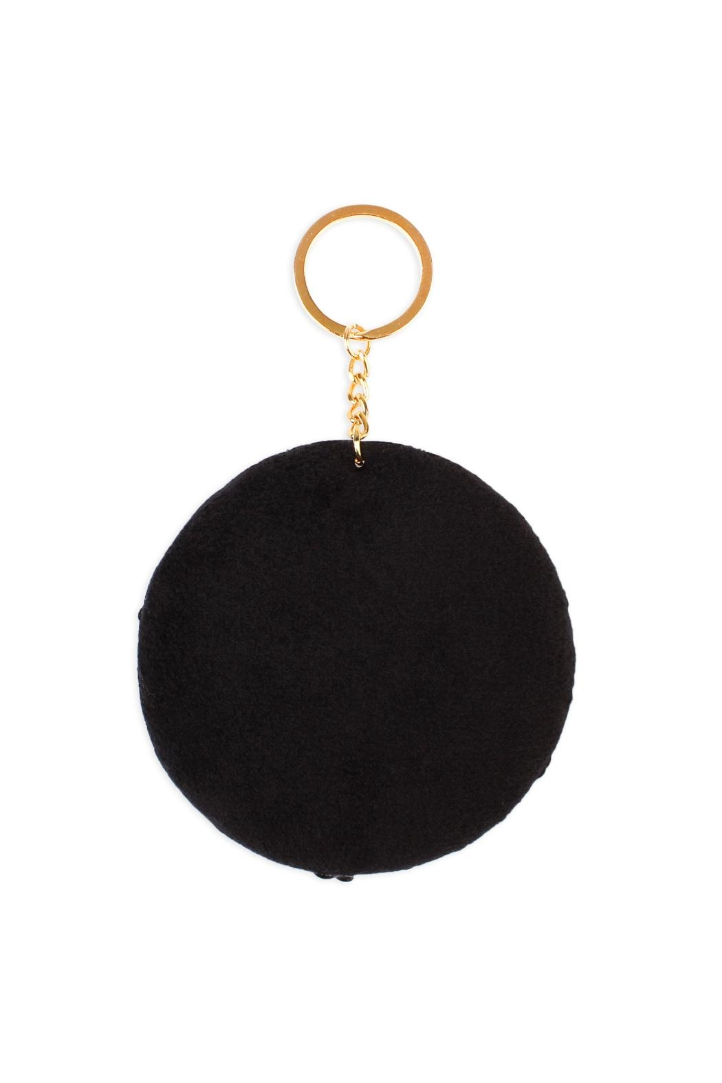 Riah Fashion Circle Reversible-Sequin Keychain - Front Full Image