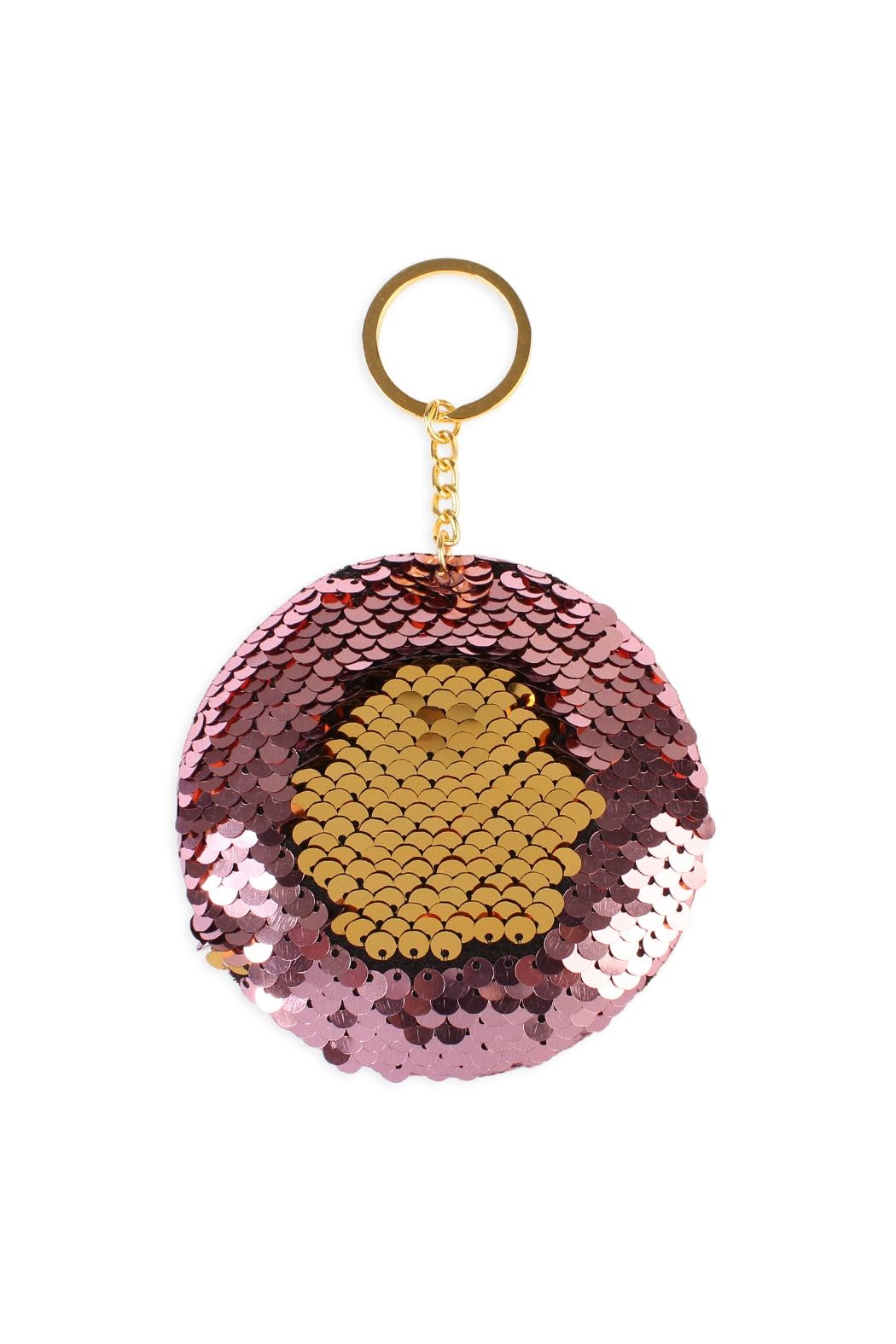 Riah Fashion Circle Reversible-Sequin Keychain - Front Cropped Image
