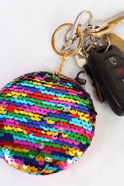 Riah Fashion Circle Reversible-Sequin Keychain - Side cropped