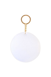 Riah Fashion Circle Reversible-Sequin Keychain - Front full body