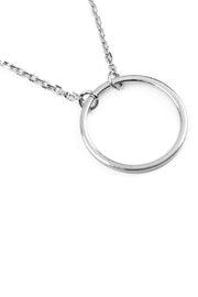 Riah Fashion Circular Pendant Necklace - Front cropped