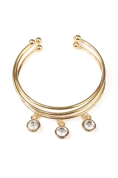 Shoptiques Product: Clear-Stone Cuff Set