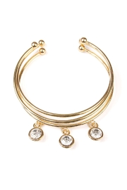 Riah Fashion Clear-Stone Cuff Set - Product Mini Image