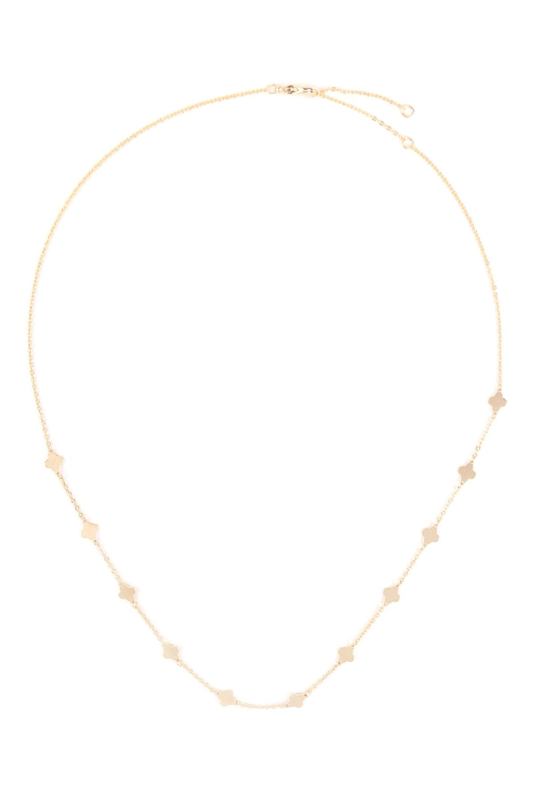 Riah Fashion Clover Stationary Necklace - Side Cropped Image