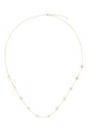 Riah Fashion Clover Stationary Necklace - Side cropped