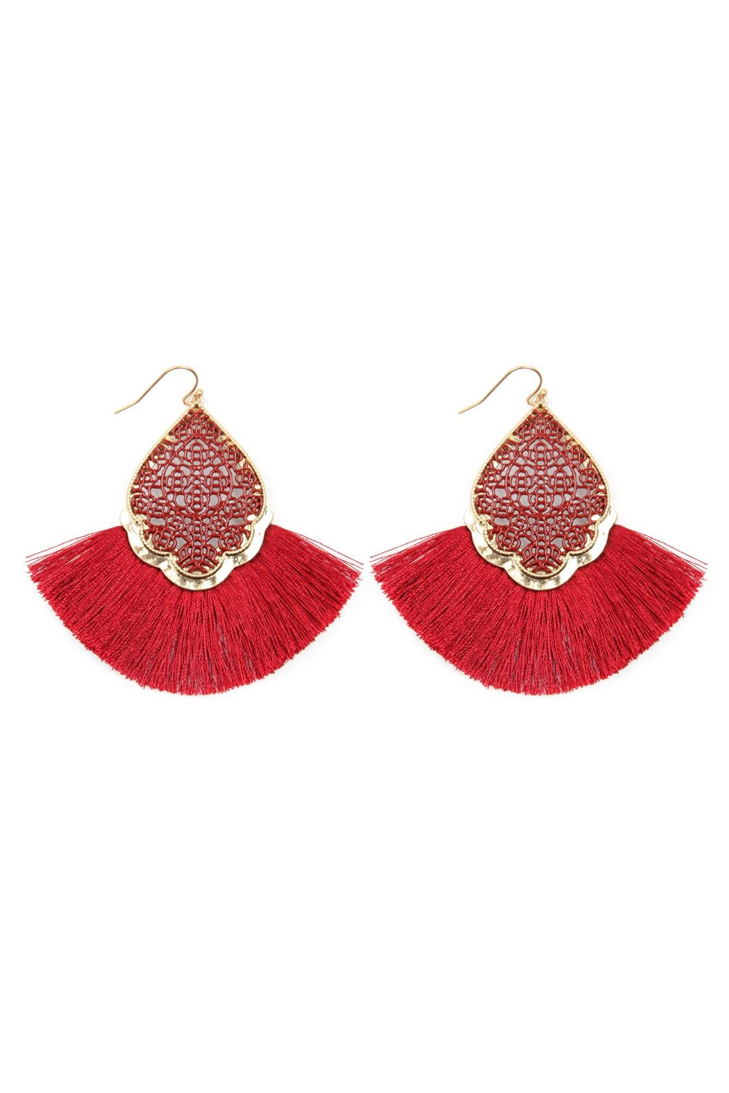 Riah Fashion Color Coating Tassel-Earrings - Main Image