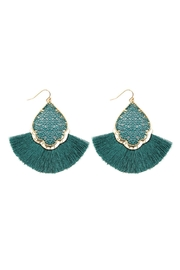 Riah Fashion Color Coating Tassel-Earrings - Front cropped