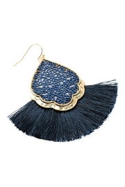 Riah Fashion Color Coating Tassel-Earrings - Back cropped
