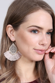 Riah Fashion Color Coating Tassel-Earrings - Front full body