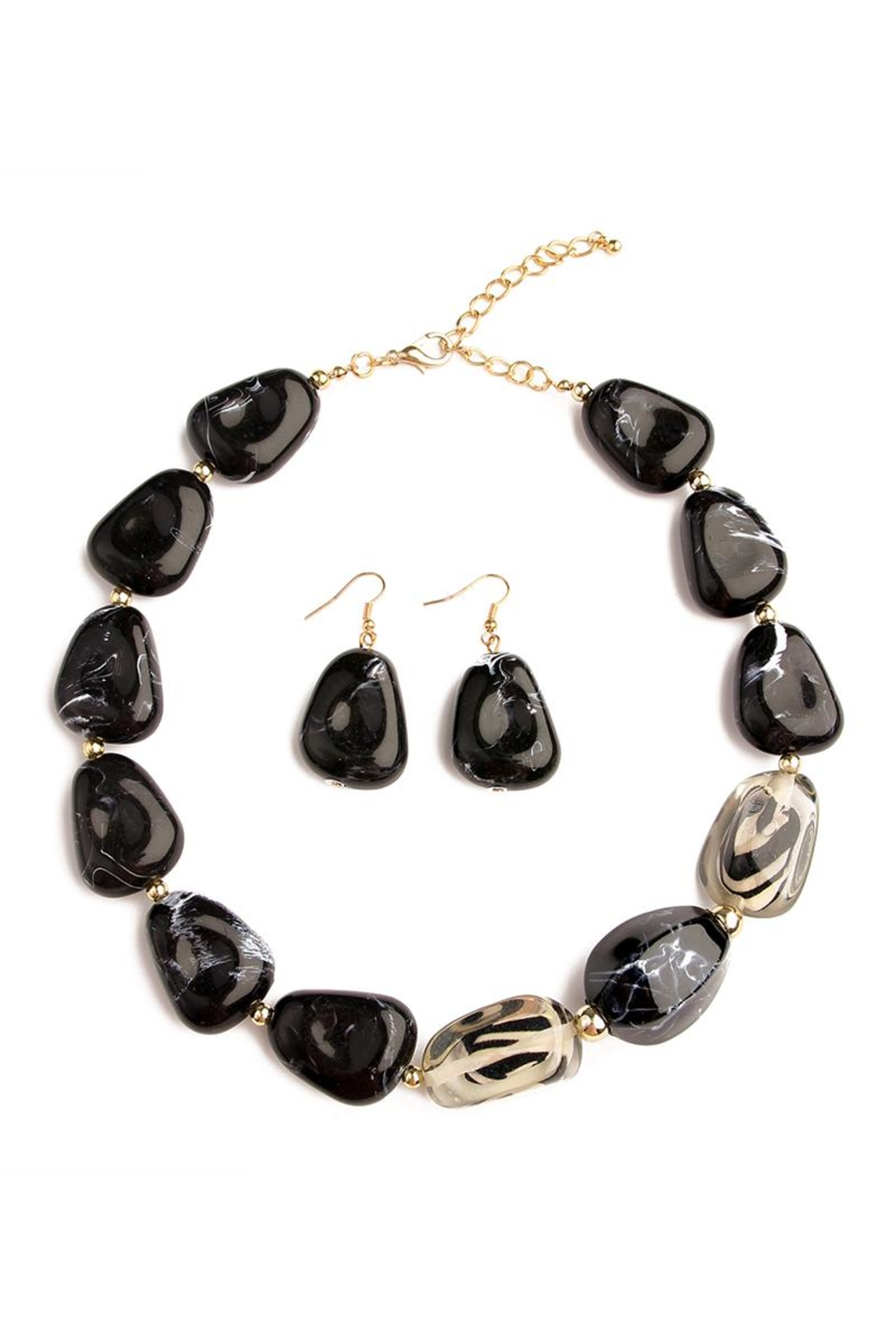 Riah Fashion Color Stone Necklace Set - Main Image