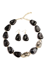 Riah Fashion Color Stone Necklace Set - Front cropped