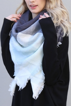 Riah Fashion Colorblock Blanket Scarf - Product List Image