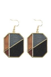 Riah Fashion Colored Polygon Drop Earrings - Front cropped