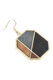 Riah Fashion Colored Polygon Drop Earrings - Front full body