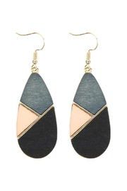 Riah Fashion Colored Polygon Teardrop-Earrings - Product Mini Image
