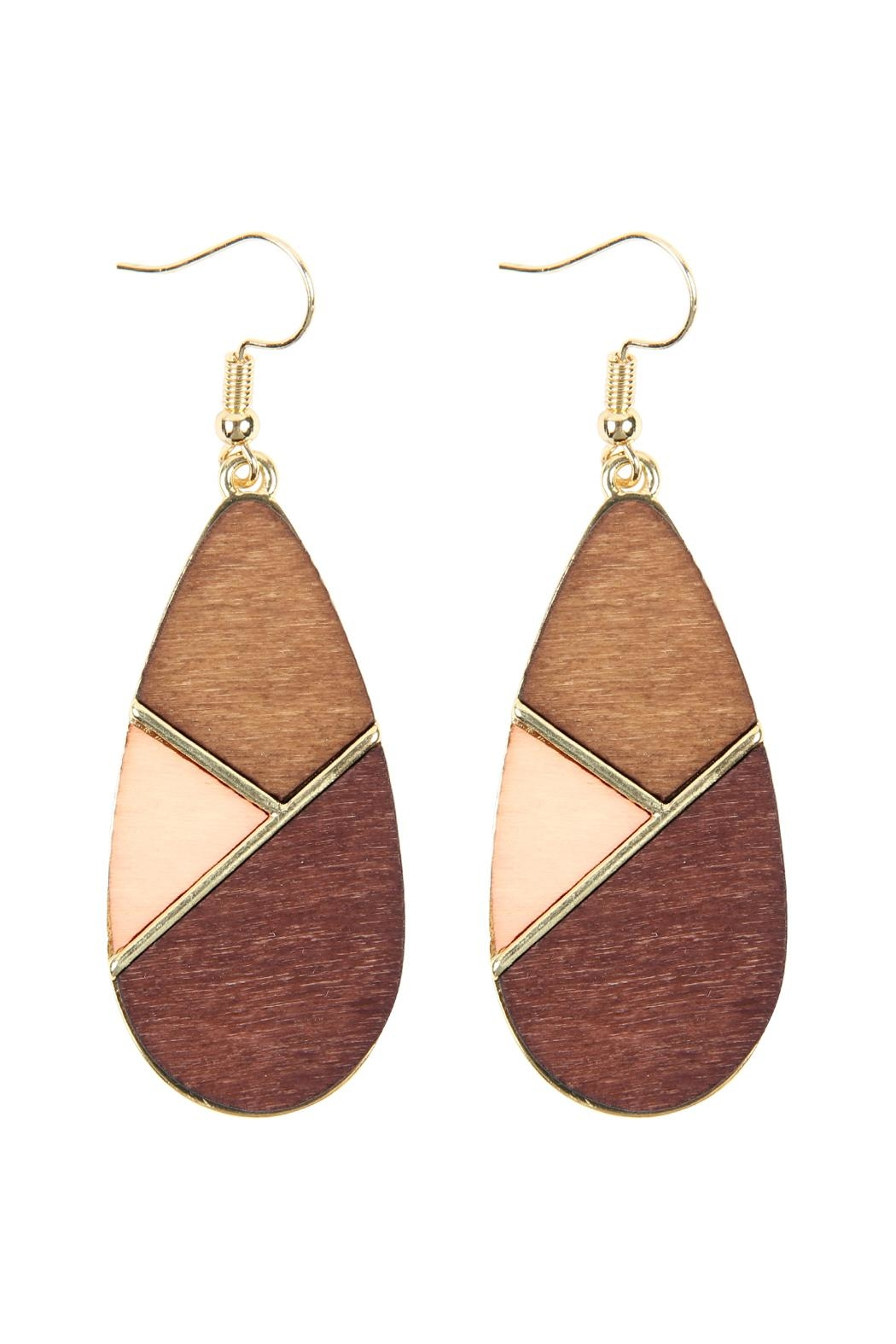 Riah Fashion Colored Polygon Teardrop-Earrings - Front Cropped Image