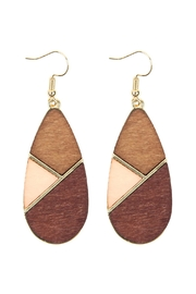 Riah Fashion Colored Polygon Teardrop-Earrings - Front cropped